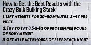 how to use crazy bulk bulking stack