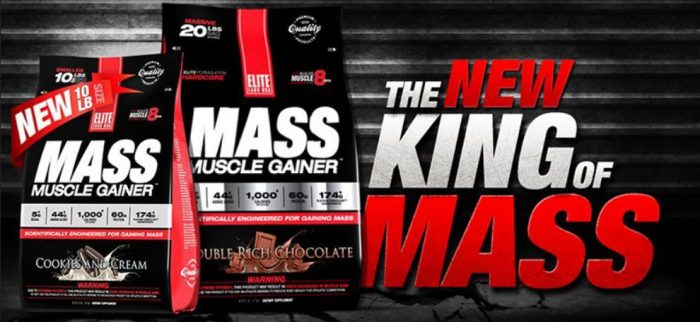 elite labs mass muscle gainer review